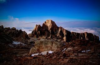 Panorama of Schalbus-Dag mountain at sunset , Dagestan, Caucasus Russia