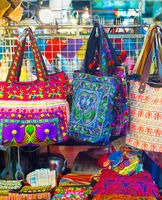 Thailand bags at night market