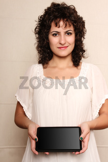 Woman with a Tablet PC