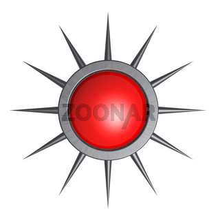 button mit stacheln - 3d illustration