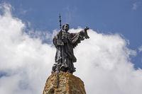 Statue aif dem Petit Saint Bernard