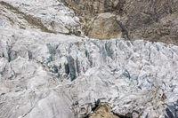 Gletscherbruch im Val Veny