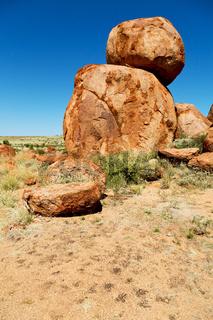 in australia the rocks  of devil  marble