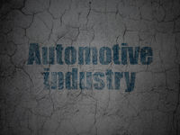 Industry concept: Automotive Industry on grunge wall background