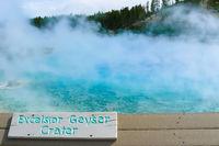 Excelsior Geyser Yellowstone Park