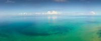 Aerial panorama landscape of tropical sea