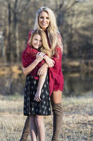 Gorgeous Blonde Model Posing With Her Teenage Daughter