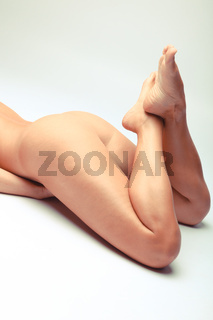 Nude Detail Of A Sensual Woman With Beautiful Legs