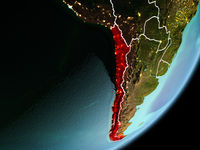 Orbit view of Chile