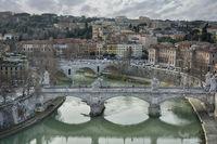Blick auf Tiber und Rom