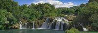 Krka River Waterfall Panorama