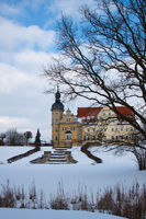 Schloss Thallwitz im Winter