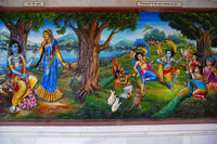 Radha Krishna in the garden with gopiya. Iskcon temple, Pune