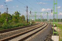 Railway tracks closeup