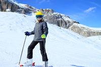 Skisport in den Alpen