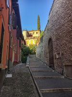 Steep footpath in Verona, Italy