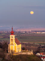 Vollmond Kirche St. Martin bei Donnerskirchen