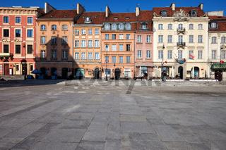 Historic houses on Krakowskie Przedmiescie street in Warsaw
