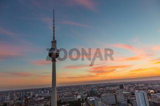 Panoramic view of Berlin, Germany.