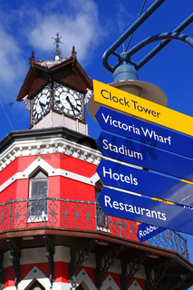 Uhrenturm an der Waterfront, Kapstadt, Südafrika, clock tower at the Waterfront, Cape Town, South Africa