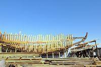 Schiffsaneubau in Holz Essaouira Marokko
