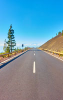 Perspective of highway