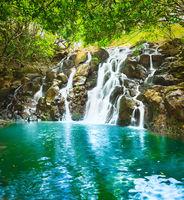 Cascade Vacoas waterfall. Mauritius.