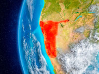 Namibia on Earth from space
