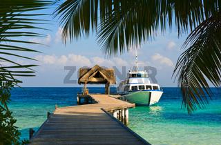 Yacht moored