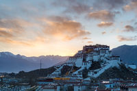 potala palace in sunset