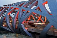Hans-Wilsdorf-Brücke, Genf, Schweiz