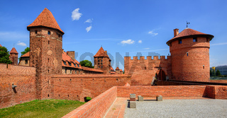 Castle of Teutonic Knights Order in Malbork, Poland