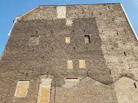Brandmauer eines alten Wohnhauses in Berlin