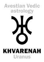 Astrology: planet KHVARENAH / Pharn (Uranus)