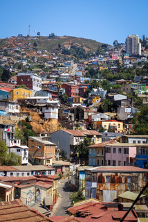 Valparaiso cityscape, Chile