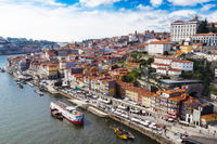 Aerial v iew of the historic city of Porto, Portugal