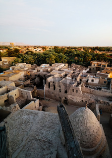 Aerial view to Balat old town in Dakhla oasis, Egypt
