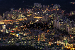 Night view over Seoul