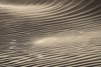 Wind blowing over sand dunes