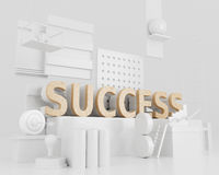 3d Success word