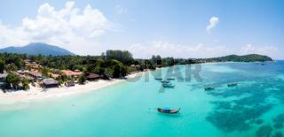 Aerial View Over Water Ko Lipe Beach Thailand