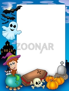 Halloween frame 1 - color illustration.