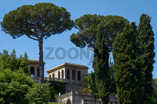 ROME, ITALY - OCTOBER 4, 2010: Tourists visiting the archaeological site of the Roman Forum (Foro Romano) near the Colosseum, part of Unesco heritage in Rome, Italy