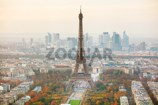 Aerial overview of Paris