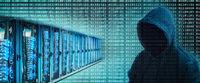 Server racks und Hacker