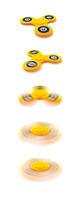 a fidget spinner in motion