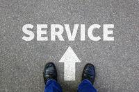 Service Kundenservice Services Dienstleistung Beratung Businessman Business man Konzept