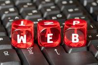Word WEB on keyboard background