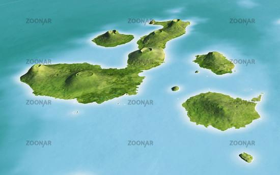 Galapagos-Inseln, 3D-Panorama