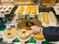 Offering bitcoin for cakes and flans in patisserie
